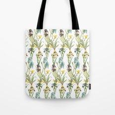 Vintage Floral Pattern | No. 2B | Iris Flowers | Irises Tote Bag