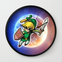 triforce Wall Clocks featuring Triforce Hero by Febrian89