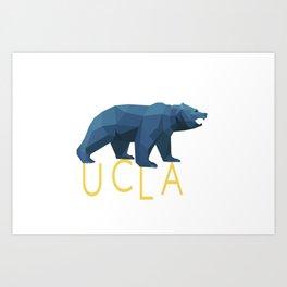 UCLA Geometric Bruin Art Print
