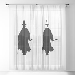 Jack the Ripper Silhouette Sheer Curtain