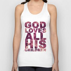 GOD LOVES ALL HIS CHILDREN (Acts 10:34-35) Unisex Tank Top
