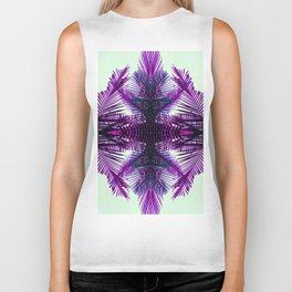 purple fern Biker Tank