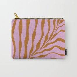 Big Wavy Pink Plant Carry-All Pouch