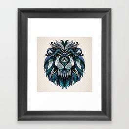 Blue Lion Framed Art Print
