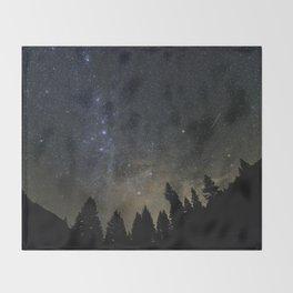 Orionids over Big Sky Throw Blanket