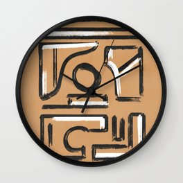Black and white on Kraft paper earth texture Wall Clock