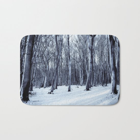 Black Winter Bath Mat