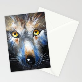 Wolf Close-Up Stationery Cards