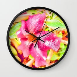 Another Flower Twist Wall Clock