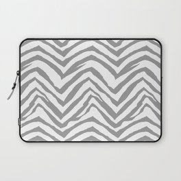 Chevron stripes zebra pattern minimal grey and white basic pattern nursery home decor Laptop Sleeve