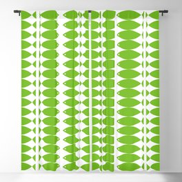 Fish in Green Blackout Curtain