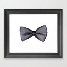 Black Bow Framed Art Print