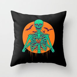 I Love Halloween Throw Pillow