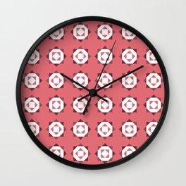Maroccan Red Stars Wall Clock