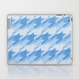 Blue Monochrome Houndstooths Laptop & iPad Skin
