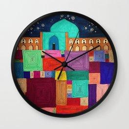 Isfahan Nights Wall Clock