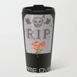 Game Over. Metal Travel Mug