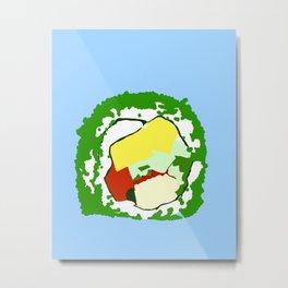 Sushi Roll Metal Print