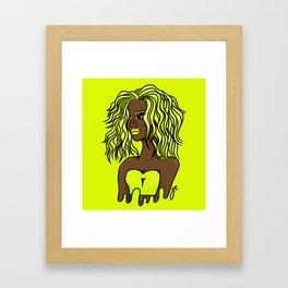 neon diva Framed Art Print
