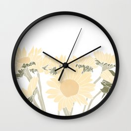 sunflower bouquet Wall Clock