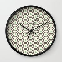 honeycomb Wall Clocks featuring Honeycomb by Tayler Willcox