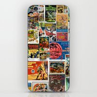 movie posters iPhone & iPod Skins featuring Vintage Sci-Fi Movie Posters  |  Collage by Silvio Ledbetter
