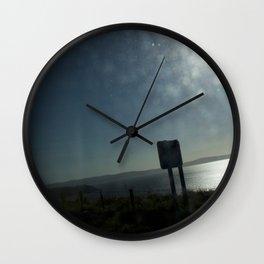 Bus window coast view Wall Clock