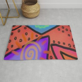 Funky Abstract Digital Painting Rug