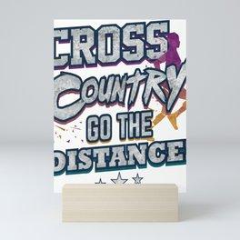 Cross Country Go the Distance Runner Gift Mini Art Print