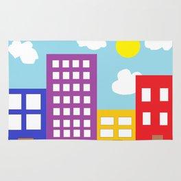 Microsoft Paint City Rug