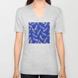 Dragonflies Blue Unisex V-Neck