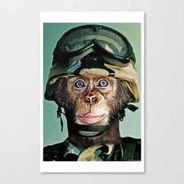 Monkey Soldier Canvas Print
