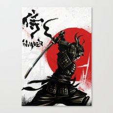 Samurai Invader Canvas Print