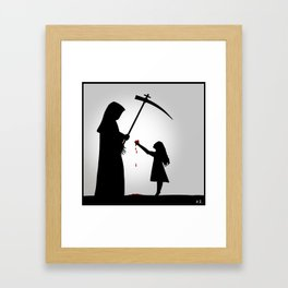 One of us was real Framed Art Print