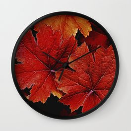 Abstract Heuchera Wall Clock
