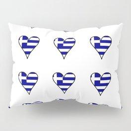 Flag of greece 3-Greek, Ελλάδα,hellas,hellenic, athens,sparte,aristotle. Pillow Sham