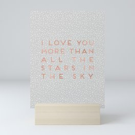 I Love You More Mini Art Print