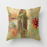 lily Throw Pillows featuring Lily by Aimee Stewart