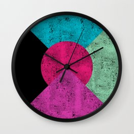 Colorful Abstract Geometric Background Wall Clock