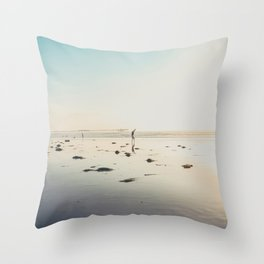 San Diego Scripps Beach Throw Pillow