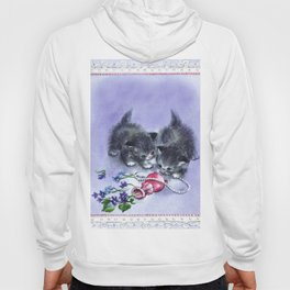 Vintage Kittens Antique Pearls Hoody