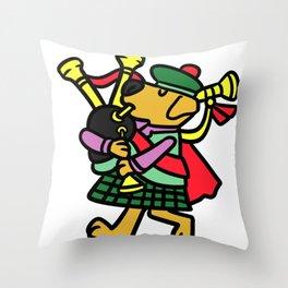 Bagpipe Music Gift Scotland Scots Scotland Throw Pillow