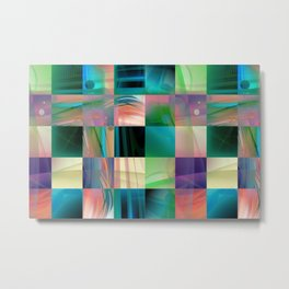 Abstract Exclusion Pattern Metal Print