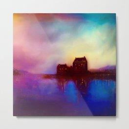 Eilean Donan Castle Sunset Metal Print
