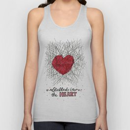 stabbed in the heart Unisex Tank Top