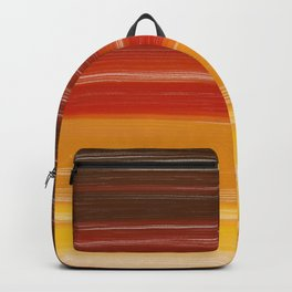 Abstract brown orange yellow sunset brushstrokes Backpack