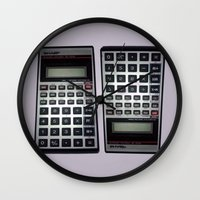 math Wall Clocks featuring Fuck Math by Wis Marvin