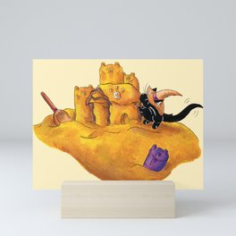 The Witch's Sandcastle Mini Art Print