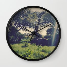 Vintage Africa 09 Wall Clock
