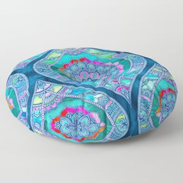 Radiant Boho Color Play Floor Pillow